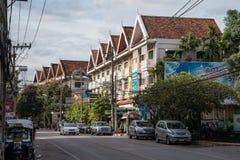 Чиангмай, Таиланд - около сентябрь 2015: Жилой район Чиангмая в старом городке, Таиланде Стоковые Фотографии RF