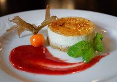 Чизкейк с мятой в симпатичном сладостном сиропе стоковые фото
