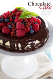 Чизкейк с ягодами на слое пирожного Стоковые Фотографии RF