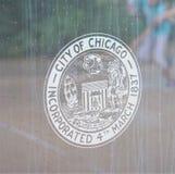 Чикаго, Иллинойс включал 1837 стоковая фотография