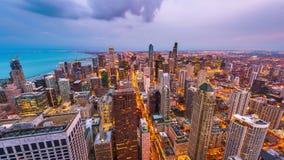 Чикаго, Иллинойс, горизонт США видеоматериал