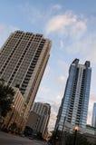 Чикаго Иллинойс городской на заходе солнца Стоковое Фото