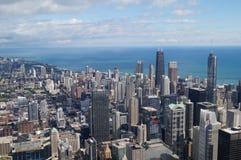 Чикаго и озеро Стоковые Фото