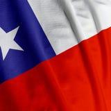 чилийский флаг крупного плана стоковая фотография rf