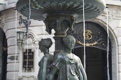 Чили de фонтан santiago Стоковая Фотография RF