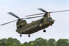Чинук HC RAF Боинга военно-воздушных сил Великобритании вертолет ZA714 двойного engined тяжелого подъема 2 воинский Стоковые Фото