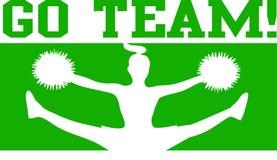 чирлидер eps идет зеленая команда Стоковая Фотография RF