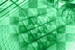 Числа, знаки почты и клавиатура Стоковое фото RF