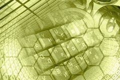 Числа и клавиатура Стоковая Фотография RF