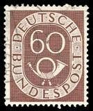 Числа с Posthorn стоковое изображение