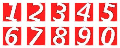 числа Стоковая Фотография RF