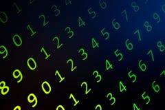 Численные непрерывные, данные по abctract в бинарном коде, дают валку технологии стоковые фото