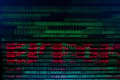 Численные непрерывные, данные по abctract в бинарном коде, дают валку технологии стоковые изображения rf