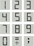 численные символы Стоковое Изображение