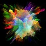 Численный красочный взрыв выплеска краски стоковое фото