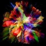 Численный красочный взрыв выплеска краски стоковые фотографии rf