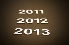 Число 2013 с открытым космосом для вашего текста Стоковые Изображения RF