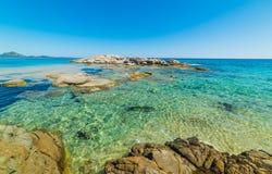 Чистая вода в пляже Scoglio di Peppino Стоковая Фотография