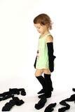 чистая девушка папаа socks попытки Стоковое фото RF
