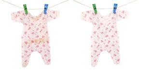 Чистая и пакостная ткань младенца Стоковая Фотография