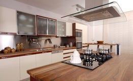Очистьте самомоднейшую кухню стоковые изображения rf