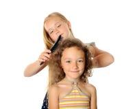 Чистить щеткой волос Стоковое фото RF