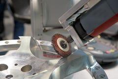Чистить щеткой металла Стоковое фото RF