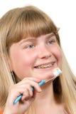 чистить щеткой расчалок Стоковое Фото