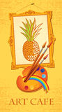 чистит ананас щеткой палитры Стоковые Фотографии RF