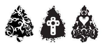чистит валы щеткой grunge рождества иллюстрация штока
