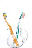 чистит зубы щеткой Стоковое Фото
