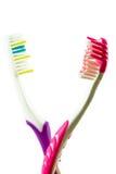 чистит зуб щеткой 2 Стоковое Фото