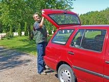 чистка автомобиля Стоковые Изображения RF