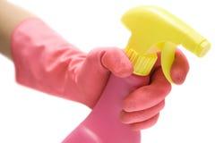 чистка ванной комнаты Стоковые Изображения