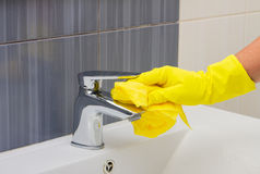 Чистка весны, ванная комната стирки Стоковое Фото