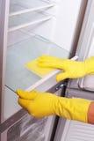 чистка вручает холодильник Стоковое фото RF