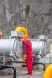 Чистка и обслуживание газового фильтра Стоковая Фотография RF