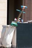 чистка оборудует вагонетку Стоковая Фотография