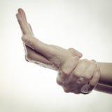 Чистка руки Стоковые Фото