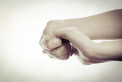 Чистка руки Стоковая Фотография