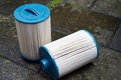 Чистка фильтра джакузи джакузи спа стоковое изображение rf