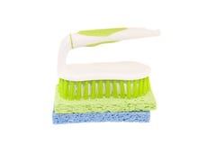чистка щетки scrub губки Стоковые Фотографии RF