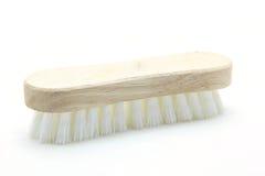 чистка щетки scrub деревянным Стоковые Изображения RF