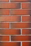 Чистой и новой предпосылка текстурированная кирпичной стеной красная Стоковое Изображение RF
