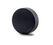 Чистосердечная шайба хоккея изолированная на белой предпосылке Стоковое Изображение