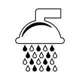 Чисто значок водопроводного крана Стоковое фото RF