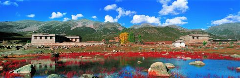 чисто мир Тибета Стоковое Изображение