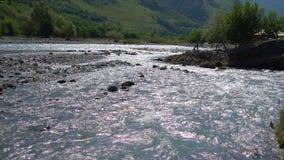 Чисто река горы видеоматериал