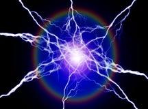 Чисто энергия и электричество символизируя силу стоковое изображение rf