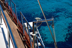 Чистые воды среднеземноморского как увидено от яхты Стоковое Изображение RF